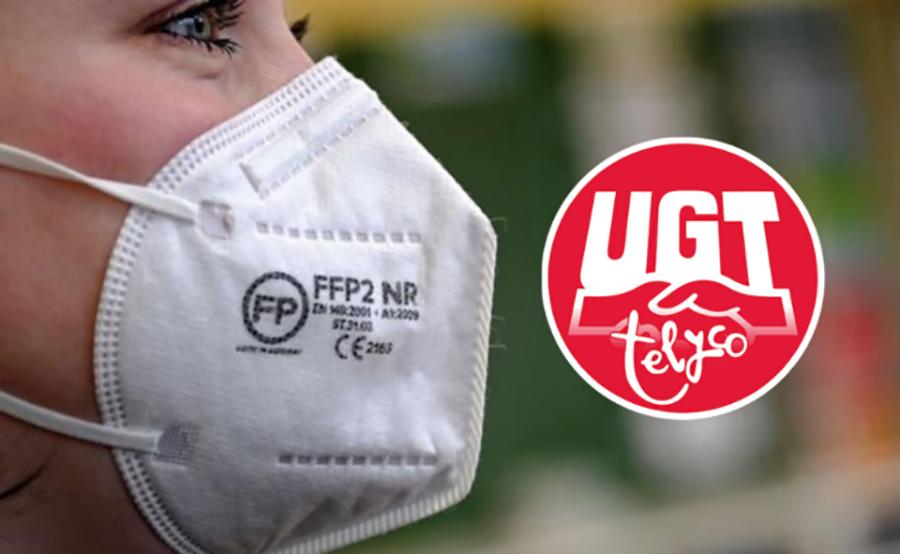 UGT Telyco consigue las mascarillas FFP2 para los puntos de venta